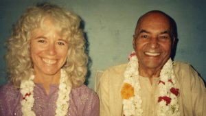 Gangaji with her guru, Papaji